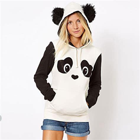 Jaket Hodie Footpint Panda s thick panda hoodie cardigan hooded coat jacket