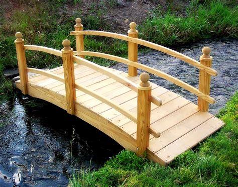 treated pine keira double rail garden bridge