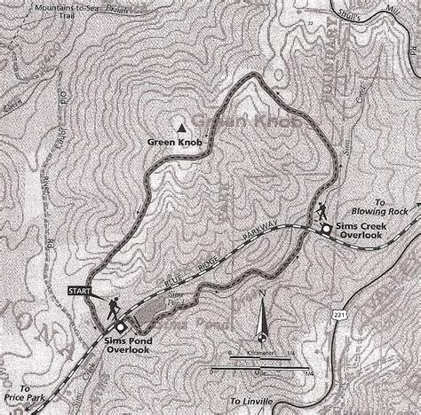 Knob Hill Trail Map by Green Knob Trail