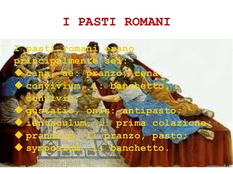 banchetti romani pasti romani