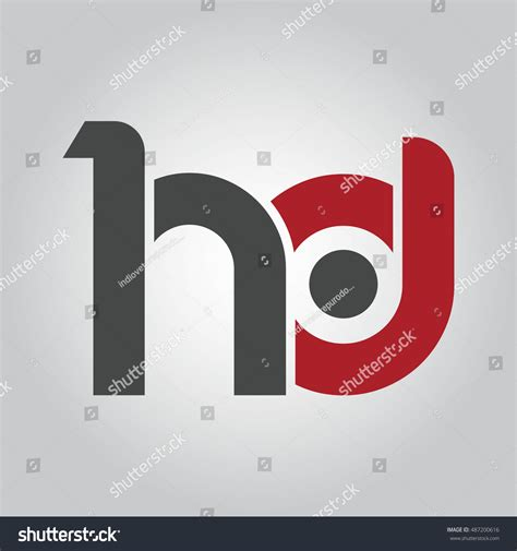 Letter Hd Hd Initial Letter Linked Lowercase Logo Stock Vector 487200616