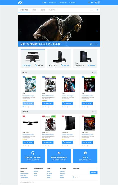 Video Games Opencart Template Opencart Templates Free