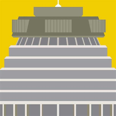 design icon wellington beehive wellington modern art print by hamish thompson