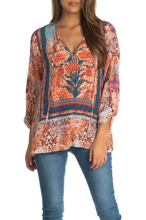 Virina Blouse tolani virginia peasant style blouse from dallas by hip chic boutique shoptiques