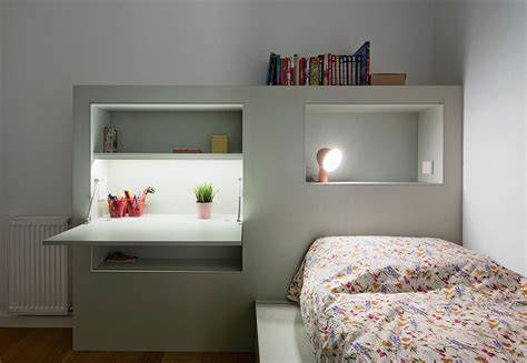 kids bedroom shelves this small kids bedroom combines the bed frame a desk