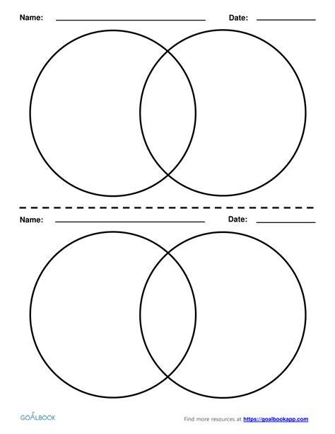 6 circle venn diagram 2 circle venn diagrams goalbook pathways