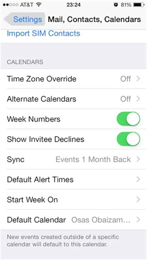 Calendar Settings How To Enable Week Numbers In Calendar For Iphone And