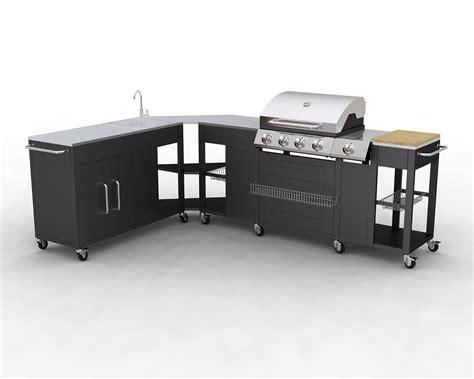cuisine inventive barbecue gaz inox grand meuble cuisine exterieur