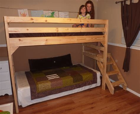loft bed plans  stairs  woodworking