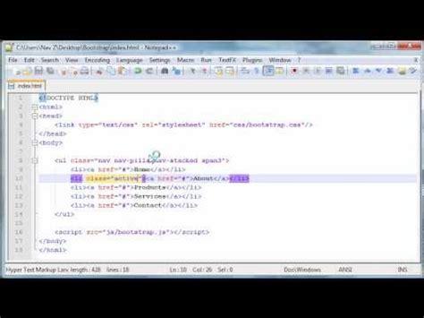 bootstrap tutorial navigation bar twitter bootstrap tutorial 6 vertical navigation bar