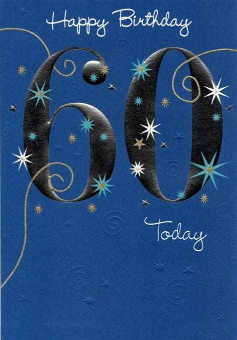 60th Birthday Card Greetings Happy 60th Birthday Greeting Card Cards Love Kates