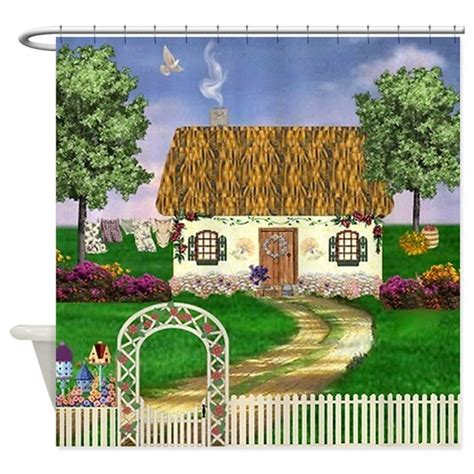 country cottage shower curtain by irishcountry