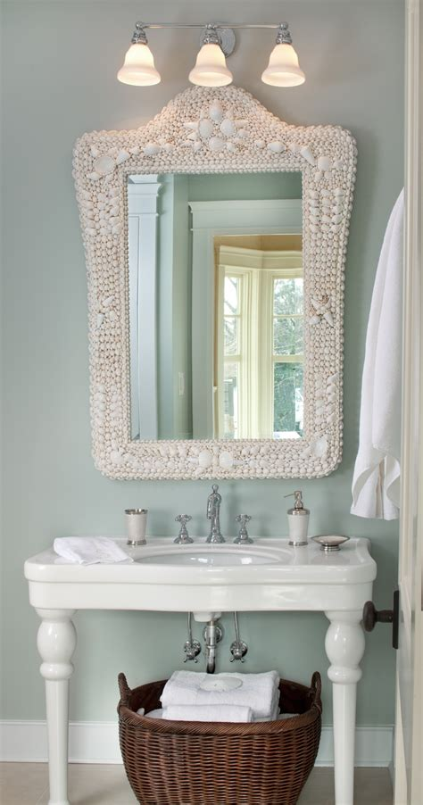 beach house bathroom mirrors best 25 coastal powder room ideas on pinterest coastal inspired white bathrooms coastal