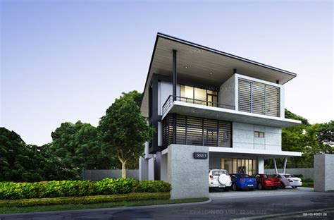 modern 3 storey house designs cgarchitect professional 3d architectural visualization user community two story