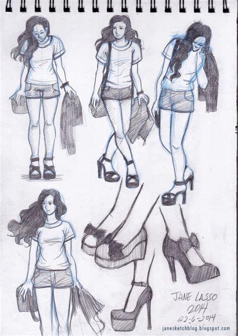 imagenes de zapatos a lapiz dibujo de poses y zapatos drawing shoes sketches