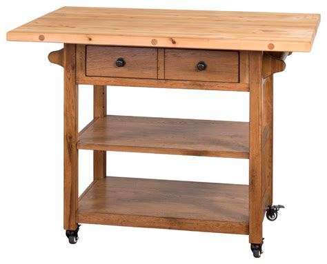 drop leaf kitchen island cart sedona drop leaf butcher block table transitional