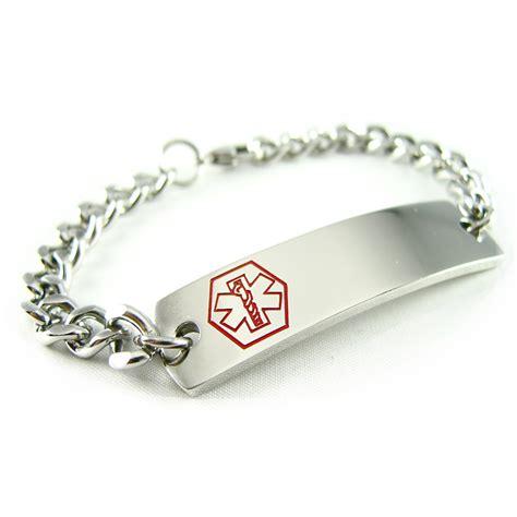 health bracelet asthma inhaler alert id bracelet custom engraved
