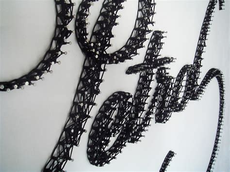 Nails And String - string and nails typography fubiz media