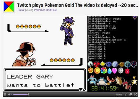 2014 A Twitch Odyssey Twitch Plays Pokemon Know Your Meme - twitch plays pokemon gold his name is blue by rose