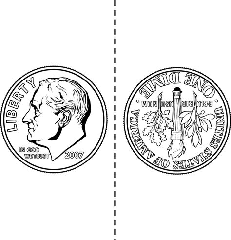 dime clipart two sided dime clipart etc