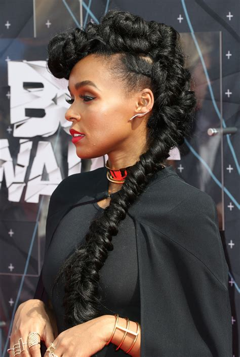 Janelle Monae Hairstyle by Pictures Of Mohawk Braided Updo Hairstyle 2013