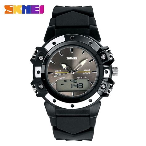 skmei jam tangan analog digital pria ad0821 black