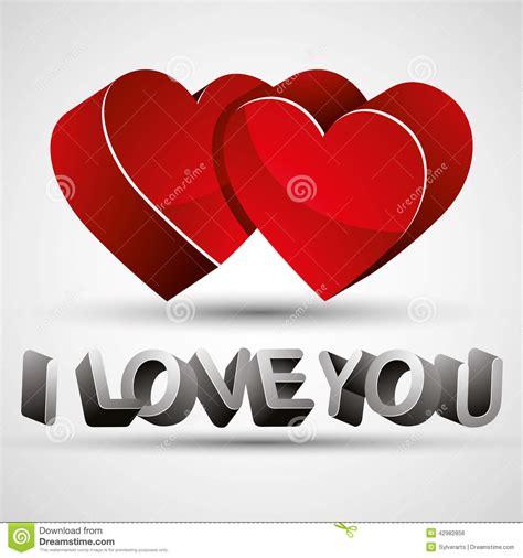 imagenes en 3d te amo te amo frase hecha con las letras 3d y el isolat rojo de