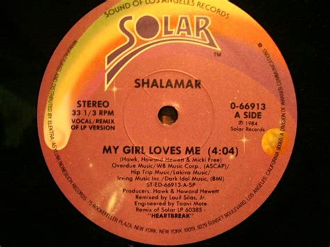 Shalamar Dead Giveaway Remix - shalamar my girl loves me source records ソースレコード