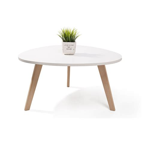 alta table basse scandinave blanc 80x42cm nordique galet