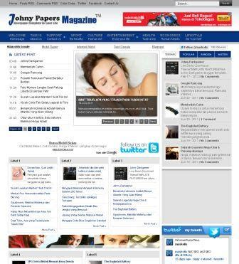 blogger themes magazine style johny papers magazine blogger templates 2013