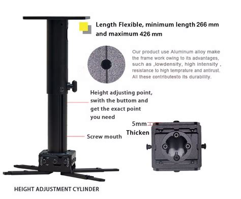 15cm Bracket Projector High Quality high quality wall mounted and ceiling mounted projector bracket dj1c factory