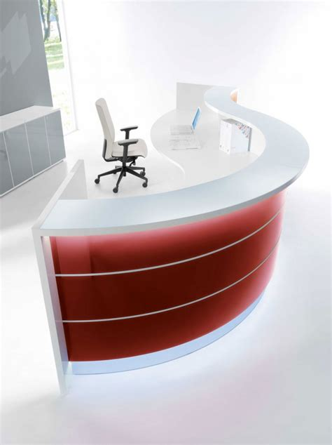 modern desk lights curved reception desk wih led light contemporary and