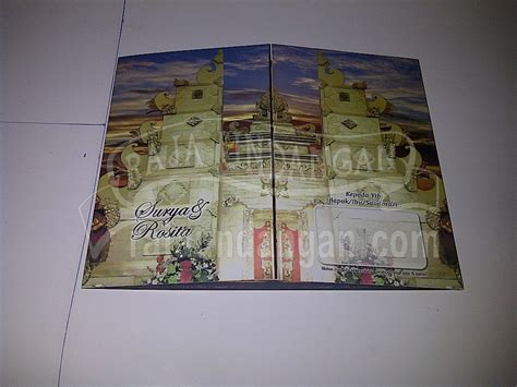 desain undangan pernikahan bali undangan pernikahan motif bali surya dan rosita edc 18