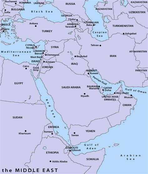 middle east map of countries and capitals teachers guide roots of terrorism center