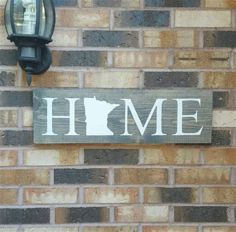woodworking mn minnesota home sign state home decor rustic home sign