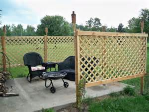 patio privacy diy lattice fence for the home