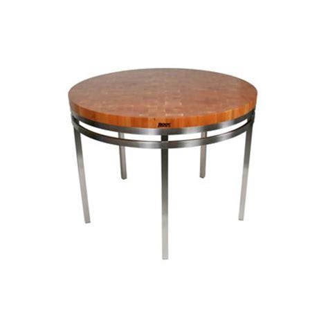 john boos grazzi kitchen island table w cherry top john boos chy met oa48 kitchen island table round w