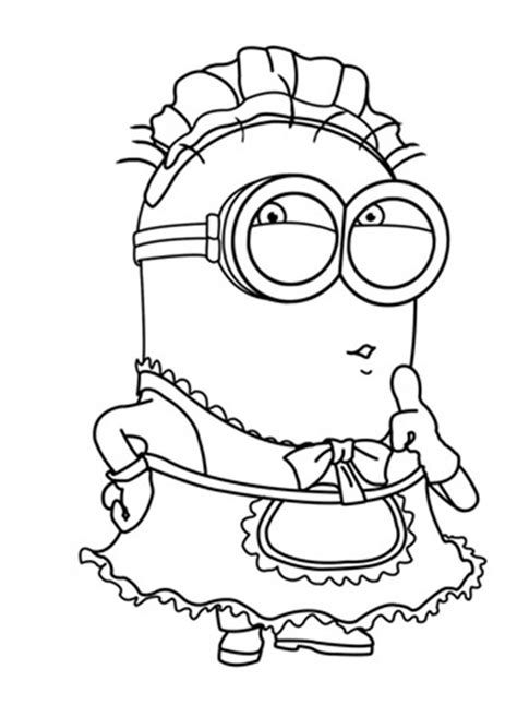coloring page of a minion minion coloring pages free large images