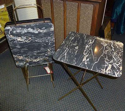 tv dinner table set antiques on kent 1950 s arborite tv dinner tables set