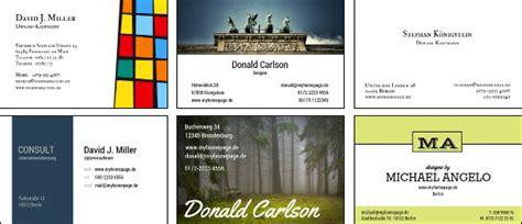Visitenkarten Nach Vorlage by Visitenkarten Vorlagen Kostenlos Nutzen Und Direkt