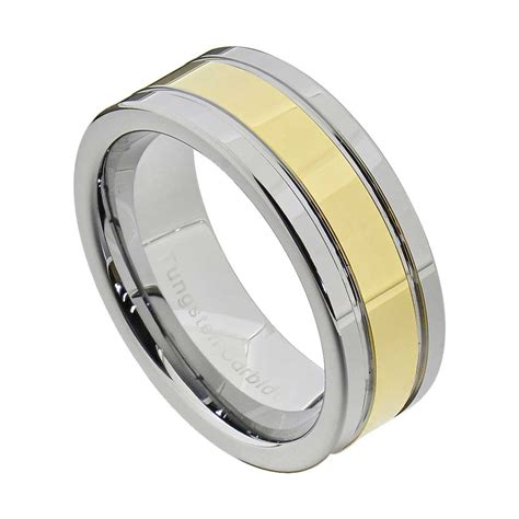 mens comfort fit wedding rings tungsten carbide ring comfort fit wedding band men silver