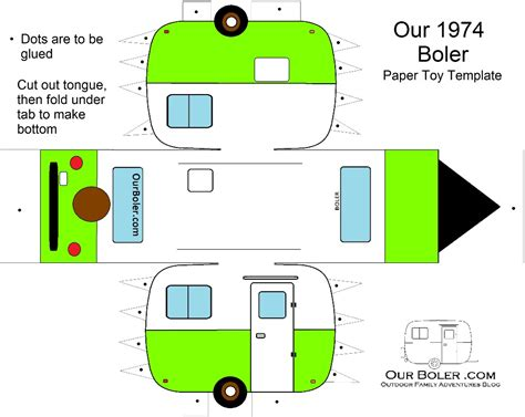 Paper Boler Toy Template Feeling Glerous Pinterest Template Toy And Pattern Paper Trailer Templates Free