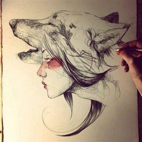 Tattoo Girl And Wolf | 50 amazing wolf tattoo designs golfian com