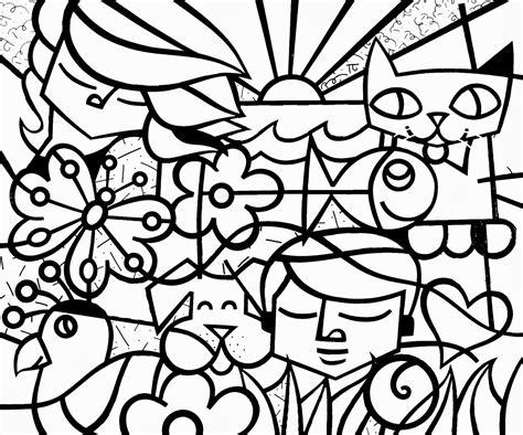 dibujos de romero britto para colorear telas do romero britto para colorir recriandonaalfabetizao