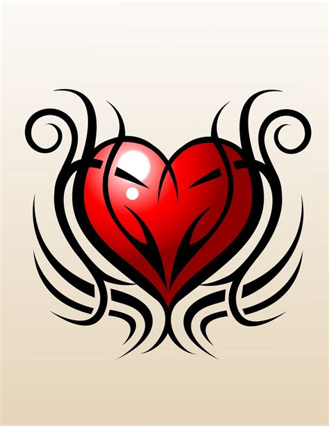 tribal tattoo heart designs tattoos and designs page 84
