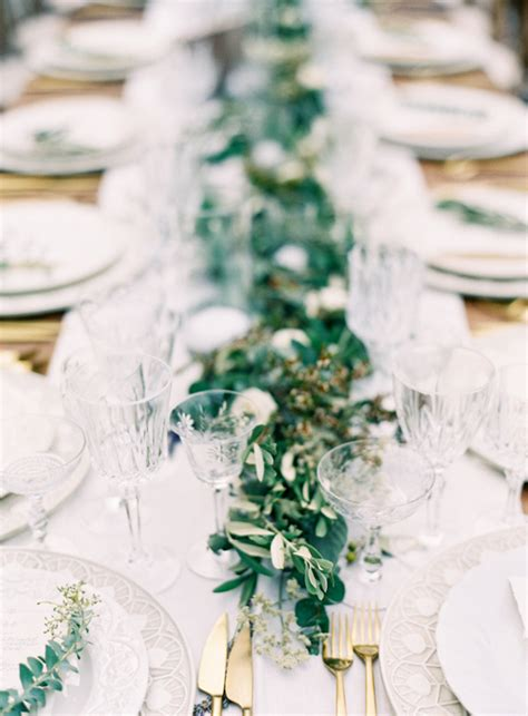 greenery table runner 11 creative ways to use greenery in your wedding tulle