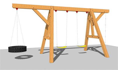 a frame swing set wooden swing set plan timber frame hq