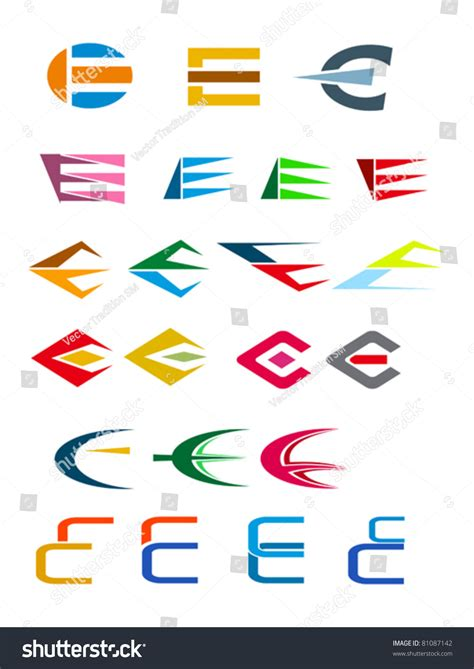 Letter Elements Set Of Alphabet Symbols And Elements Of Letter E Such A Logo Jpeg Version Also Available In