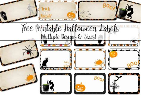 Free Halloween Food Label Templates