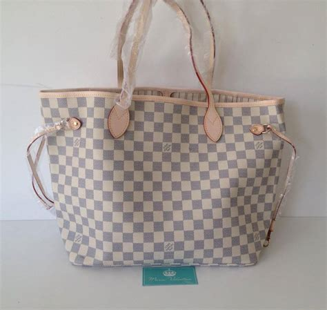 F U R L A Neverfull 01fr428 bolsa louis vuitton neverfull canvas damier azur mm valentina store